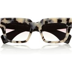 Prada Square-frame acetate sunglasses (50.505 HUF) ❤ liked on Polyvore featuring accessories, eyewear, sunglasses, glasses, prada, tortoiseshell, prada eyewear, prada glasses, tortoiseshell glasses and tortoise shell sunglasses