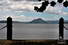 View of the majestic Taal Volcano from Club Balai Isabel's Kumintang Boardwalk. #clubbalaiisabel @TourismPHL @Tourism Pinas