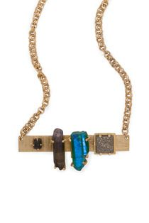 Tephra Necklace. #kellywearstler #druzy #labradorite #melange #jewelry #necklace