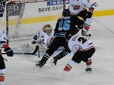 Rush rookie goalie Keaton Hartigan stops a shot as the Rush cruise past the St. Charles Chill, 7-2.