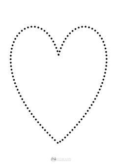 serce - połącz kropki Crafts For Kids, Valentines, Activities, Education, Diamond, Jewelry, School, Hearts, Crafts For Children