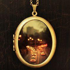 New York Photo Locket Necklace