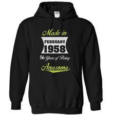 I Love february 1958 Shirts & Tees