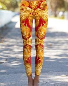 Golden Dragon Yoga Pant