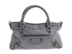 Authentic Balenciaga The First Gray handbag #Balenciaga #Handbag