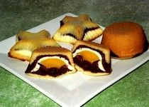 Trojbarevné muffiny Czech Recipes, Ethnic Recipes, Dessert Recipes, Desserts, Sushi, Muffins, Eggs, Cheesecake, Sweets