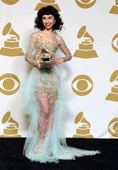 """Kimbra (Singer) from Hamilton, New Zealand wins Grammy with Gotye for hit song """"Somebody That I Used To Know""""."""