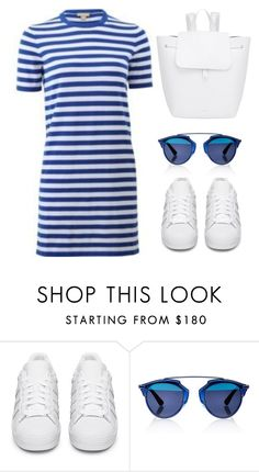 """""""Untitled #373"""" by elliedella ❤ liked on Polyvore featuring adidas Originals, Christian Dior, Mansur Gavriel and whtesneakers"""