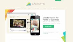 TOOL:  Animoto:  Tell a story with images, video and music.
