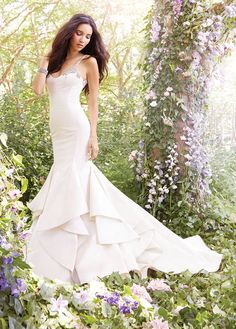Jim Hjelm by Hayley Paige Fitted Taffeta Wedding Dress