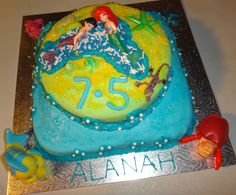 Alanah's The Little Mermaid 2 cake! After missing out on a 7th birthday party and moving away before her 8th, Alanah came to Madfun to celebrate her 7th and a half birthday, proof you don't need to wait until your birthday to have a great party!