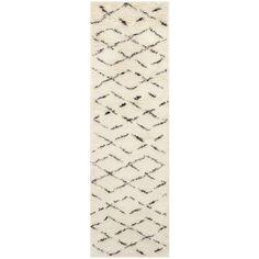 Bermondsey Ivory Shag Area Rug