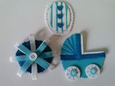Complementos en goma eva para decorar tartas de pañales :D