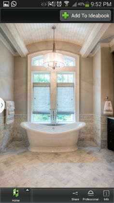 Tub in front of window :)