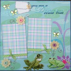 12x12 Scrapbook Layout  Disney's The Princess Frog by ntvimage, $12.99