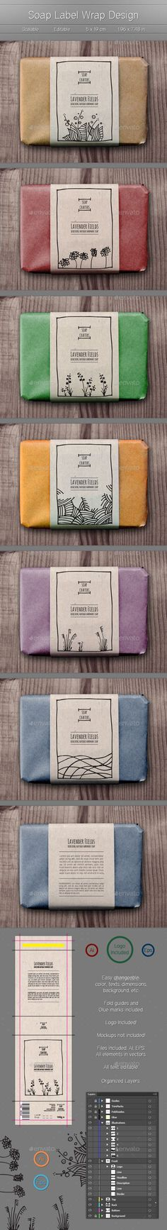 Soap Wrap Labels - Packaging Print Templates More