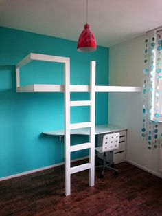 vonessendesign - furniture and interior, designed and handmade in holland Kids Bed Design, Kids Bedroom Designs, Room Ideas Bedroom, Build A Loft Bed, Loft Bed Plans, Loft Beds For Teens, Deco Nature, Room Planning, Aesthetic Rooms