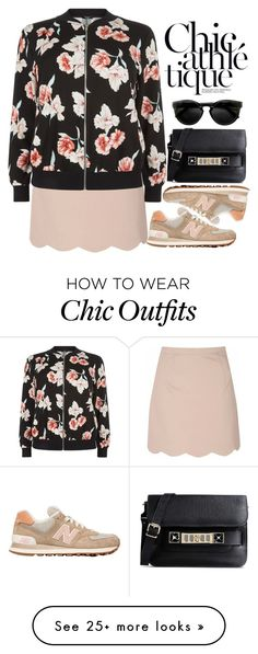 """Le sport CHIC"" by bmaroso on Polyvore featuring Glamorous, New Look, New Balance, Proenza Schouler, sneakers, sportychic, bomberjackets and sportystyle"