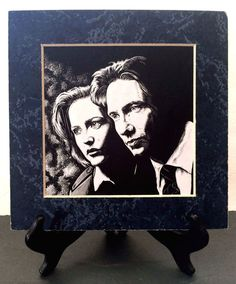 X-FILES Mulder Scully Limited Edition Print by Mike Cole Gryphyn Graphyx #15/25