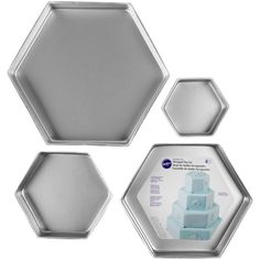 <div>Make a lasting impression at your next event by using these four hexagon pans individually ...