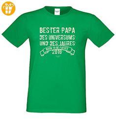 Bester Papa des Universums ::: Geschenk zum Vatertag Geburtstag Weihnachten Fun T-Shirt Herren in: hellgrün (*Partner-Link)