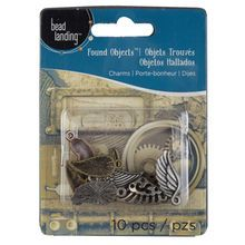 Bead Landing Found Objects Wing Charm Assortment