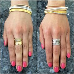 #Enjoy your #memorial day #weekend!  #Match these #gorgeous #Brazilian #rings and #mesh #bracelet with your #outfit