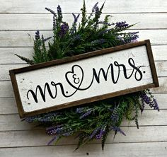 Mr. and Mrs. | Pallet Sign | Wood Sign | Wedding | Bridal Shower | Newlyweds | Housewarming | Farmhouse | Rustic | Country | Handlettered by EMPalletDesigns on Etsy