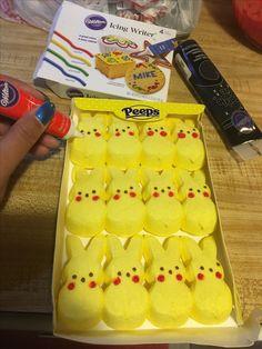 Pikachu Peeps #food #decor Pokemon Party, Pokemon Birthday, Pokemon Gifts, 9th Birthday Parties, Birthday Bash, Birthday Ideas, Pikachu, Tsumtsum, Party Planning