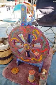 Painted Kiwi Spinning Wheel | Flickr - Photo Sharing!