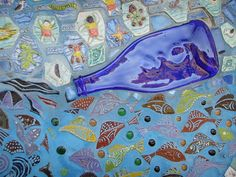 bundagen mosaic mural detail by Wendy Tanner, via Flickr