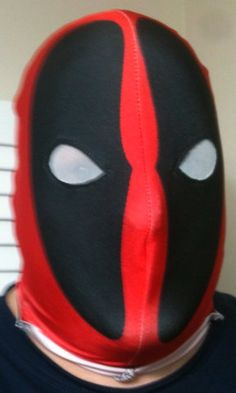 Deadpool Dye Sublimated mask by AtomicWear on Etsy, $50.00