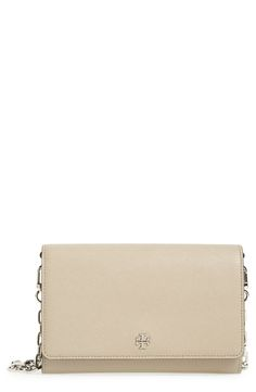 New Tory Burch Robinson Leather Wallet on a Chain fashion online. [$295]?@shop.seehandbags<<
