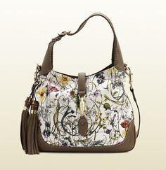 c398131804ab Gucci - new jackie flora canvas shoulder bag