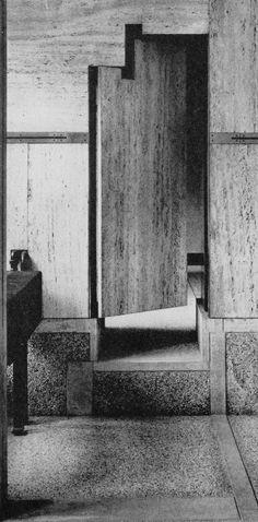 Door to gallery annex of the Fondazione Querini Stampalia.1963. Venice, Italy…                                                                                                                                                                                 Más