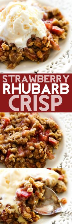 ***Strawberry Rhubarb Crisp ~ is full of flavor and texture! It receives rave reviews by all who try it. The crumb topping on top is perfection. This will be one of THE BEST crisps you ever try!