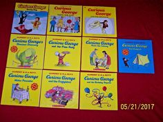 10 Curious George Children's Picture Books Margret & H.A. Rey PBS Kids Ages 3-7