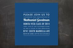The Square Types Graduation Announcements by Design Lotus at minted.com