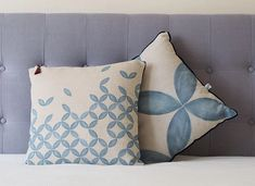 Printed linen cushions