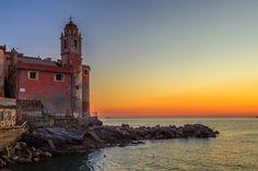 Tellaro - Tellaro, Liguria, Italy. Sunset.