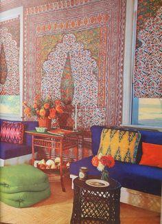 Vintage Decor Images, Hippie Houses, Vintage Modern Decor, Vintage Morrocon Living Room