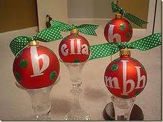 glitter ornament craft - Google Search