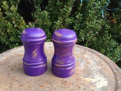 Salt and pepper wooden shakers on pinterest salt Funky salt and pepper grinders