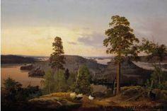 Ferdinand von Wright,   Näköala Haminalahdelta, 1853
