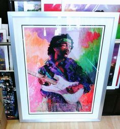 Jimmy Hendrix by E Anthony Orme #popart #anthonyorme #Orme  #artist #jimmyhendrix #bright #art #print #artforsale #framed in #silver #frame #gallery #picture #framing #manchester #bury #prestwich #whitefield #bolton #lancashire  call 0161 7669991 to purchase