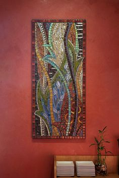 Abstract mosaic wall art – thenatureofmosaic  Gretchen McPherson – flickr