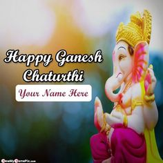 Name writing greeting card happy ganesh chaturthi wishes image, online best new 2020 celebration lord shri ganesha festival photo with name, create my name on pic unique greeting pictures wishes, make your name photos editor option free bal ganesh wallpaper download customized Happy Ganesh Chaturthi Wishes, Ganesh Wallpaper, Name Photo, Name Writing, Wishes Images, Ganesha, Photo Editor, Celebration, Greeting Cards