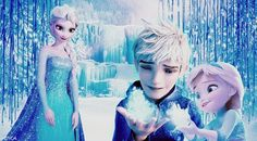 Elsa lovingly smiles at her husband and daughter <3