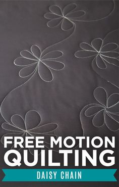 Here is a super awesome quilt design for any quilt needing a little bit of floral flare! This fun little Daisy Chain is easy and a great way to add more texture into some of your other FMQ patterns… Patchwork Quilting, Quilting Stitch Patterns, Hand Quilting Designs, Machine Quilting Patterns, Quilting Stencils, Easy Quilt Patterns, Quilting Templates, Quilt Stitching, Longarm Quilting