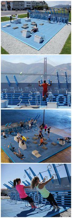 Low-cost, open-air pop-up gym, San Fran [NewDealDesign]:
